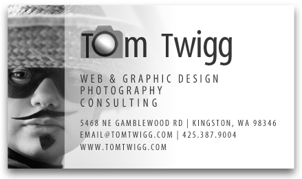 Tom Twigg business card