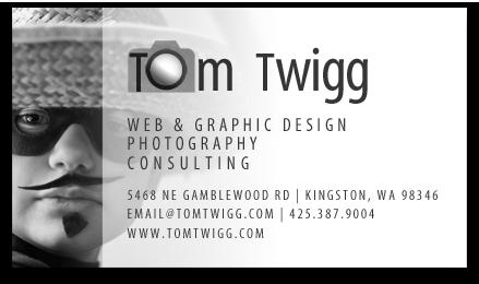 Tom Twigg business card
