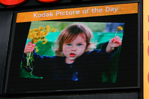McKenna in Kodak Times Square display, March 20, 2008